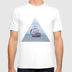 Pirate Mens Fitted Tee White MEDIUM
