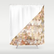 MERMAID GOLD Shower Curtain