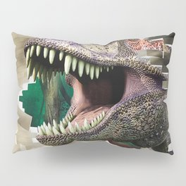 Destroying dinosaur Pillow Sham
