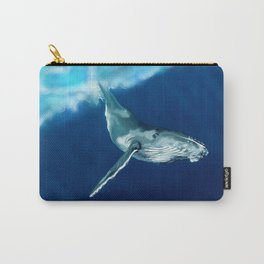 "Humpback Whale Singing ""Dive with Me"" Carry-All Pouch"