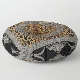 Baroque Leopard Scarf Floor Pillow