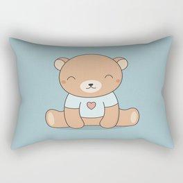 Kawaii Cute Teddy Brown Bear Rectangular Pillow