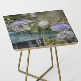 Pansies on Ice Side Table