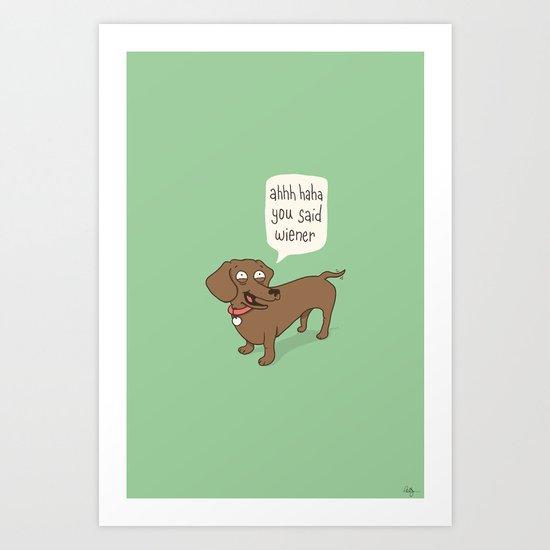 Immature Dachshund Art Print