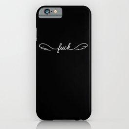 Flying Fuck - Black - Single iPhone Case