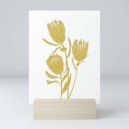 Golden Protea  Mini Art Print