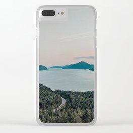 Squamish Sunset II Clear iPhone Case
