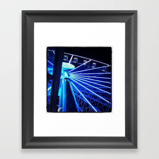 Great Wheel Framed Art Print