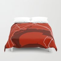 san diego Duvet Covers featuring San Diego CA. Map by Studio Tesouro