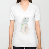 parrot V-neck T-shirts featuring parrot by Narek Gyulumyan