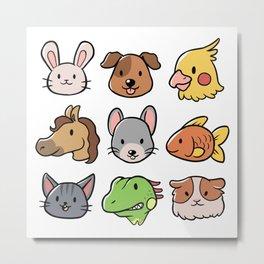 Pet Faces Metal Print