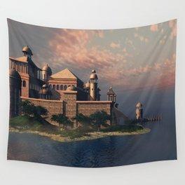 Beautiful Fantasy Town Wall Tapestry