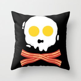 Bacon And Eggs gift idea / present Throw Pillow