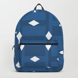 3d squares blue shades Backpack