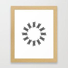 """""""TIME"""" Rotating Framed Art Print"""