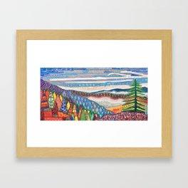 Patchwork Quilt Framed Art Print