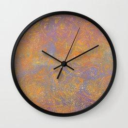Gelatin Monoprint 23 Wall Clock