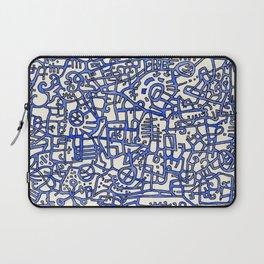 Begin/End Series in Blue Laptop Sleeve