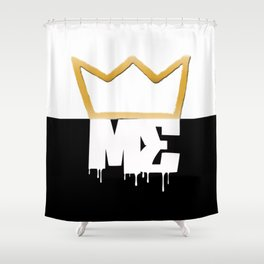 Modesty's End - 1/2n1/2 Crwn Shower Curtain