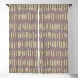 Earthy Green on Grape Vine Purple Parable to 2020 Color of the Year Back to Nature Bold Grunge Dash Blackout Curtain