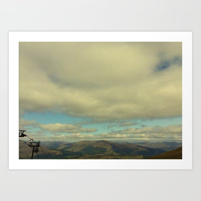 Clouds at Ben Nevis Range Art Print