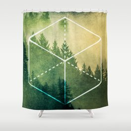 The Elements Geometric Nature Element of Earth Shower Curtain