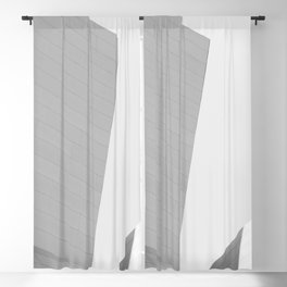 From the Inside Out Black And White Afternoon Vintage Retro Photography Blackout Curtain