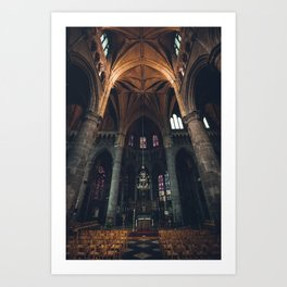 Belgium Church  Art Print