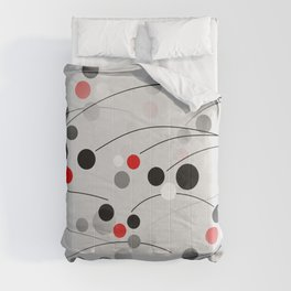 Winterberry - Abstract - Black, Gray, Red, White Comforters