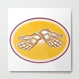 Workman Utility Gloves Retro Metal Print