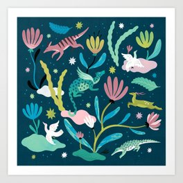 Dream Animals Art Print