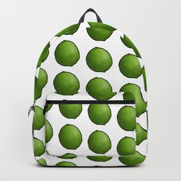 Whole Green Limes on White Backpack