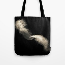 Two feathers in black and white Tote Bag