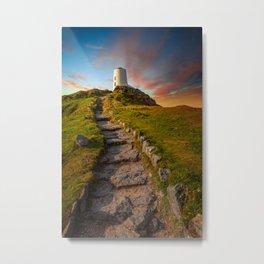 Llanddwyn Tower Anglesey Metal Print