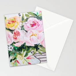 Peony bouquet Stationery Cards