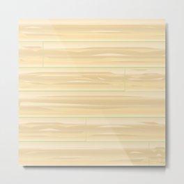 Pale Wood Background Metal Print