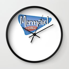 Mermaid Lounge Wall Clock