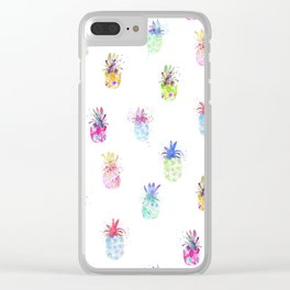 Pineapple summer party Clear iPhone Case