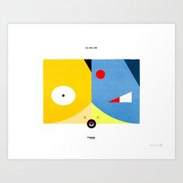 PKMNML #054 - 055 (EVOLUTION) PSYDUCK - GOL DUCK Art Print