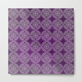 Violet Mandalas Metal Print