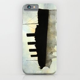 Titanic watercolour iPhone Case