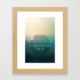 No Enemy Framed Art Print