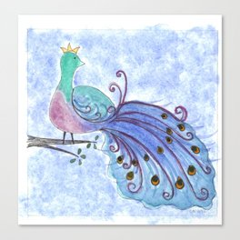 Whimsical Peacock Canvas Print