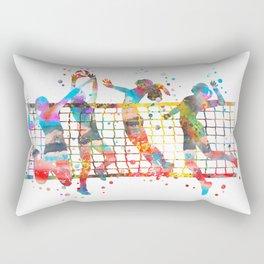 Volleyball girl Rectangular Pillow