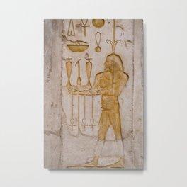 Egyptian Hieroglyphs Metal Print