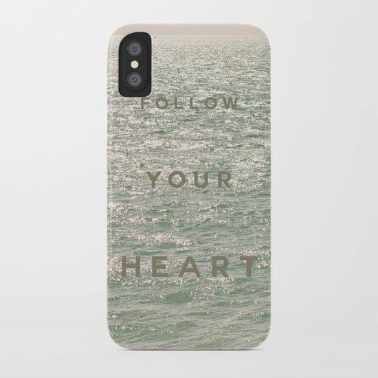 Follow you heart iPhone Case