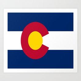 flag colorado,america,usa,south,desert, The Centennial State,Coloradan,Coloradoan,Denver,Springs Art Print