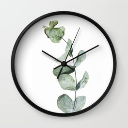 Eucalyptus, Minimalist Photography Wall Clock