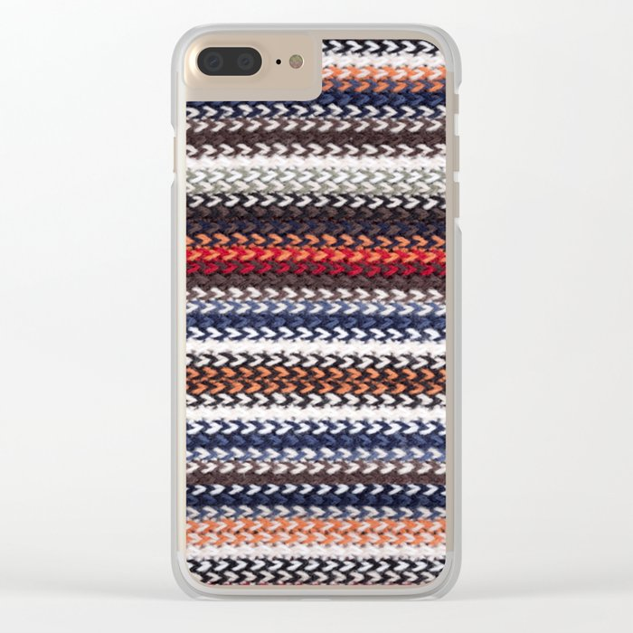 Texture laine Clear iPhone Case