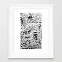 lyrics Framed Art Prints featuring Song Lyrics by Fallon Chase